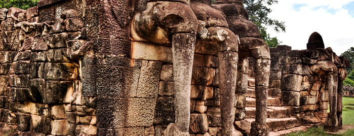 Terrace of the Elephants is one of Angkor Archaeological Park Highlights.