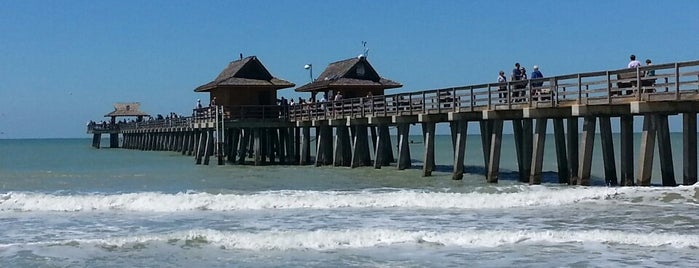Beach By Naples Pier is one of Tempat yang Disukai Mauricio.