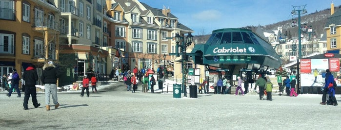 Station Mont-Tremblant is one of Jas' favorite urban sites.