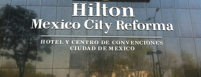Hilton Mexico City Reforma is one of Orte, die Sergio M. 🇲🇽🇧🇷🇱🇷 gefallen.
