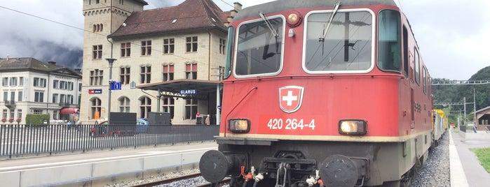 Bahnhof Glarus is one of Aus, Bel, Fra, Ger, Ita & Swi.