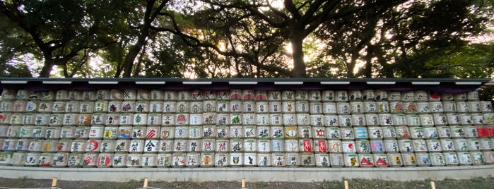 Barrels of Sake Wrapped in Straw is one of Tokyo Ideas.