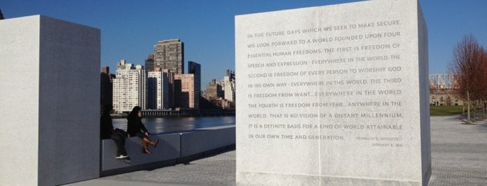 Four Freedoms Park is one of NYC Top 200.