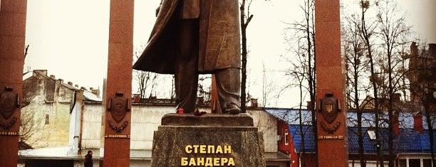 Пам'ятник Степанові Бандері is one of Galia 님이 좋아한 장소.