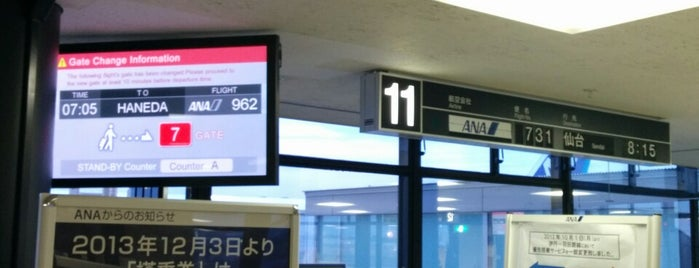 Gate 11 is one of 大阪国際空港(伊丹空港) 搭乗口 ITM gate.