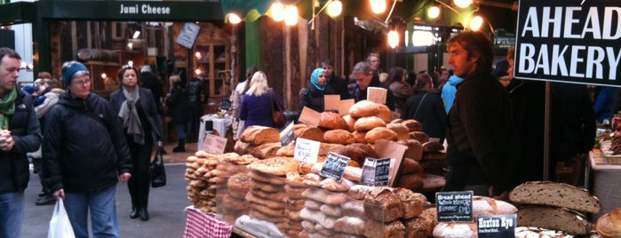 Borough Market is one of i like london in the rain.