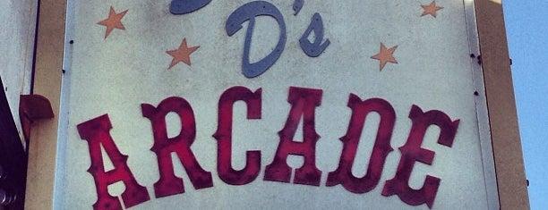 Stevie D's Arcade is one of Seaside.