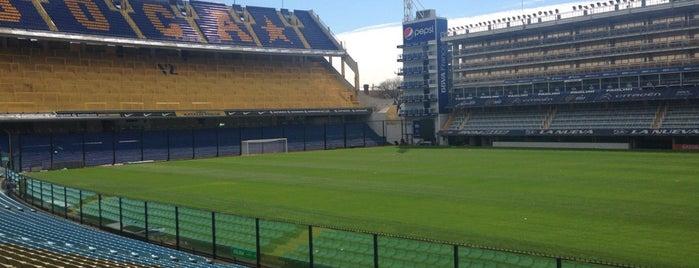 "Estadio Alberto J. Armando ""La Bombonera"" (Club Atlético Boca Juniors) is one of Aqui na terra tão jogando futebol."