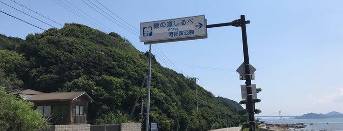 緑の道しるべ 阿那賀公園 is one of アワイチポタ♪.