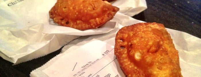 Mama's Empanadas is one of NYC Eats.