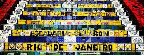 Escadaria de Selarón is one of Rio de Janeiro.