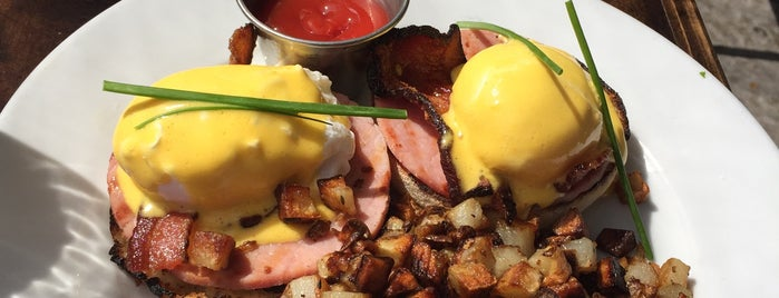 Blu Jam Café is one of America's 50 Best Eggs Benedict Dishes.