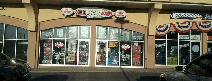Comic Book Jones is one of Leah 님이 저장한 장소.