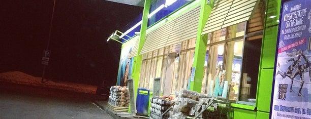 АЗС BP & Wild Bean Cafe is one of Tempat yang Disukai Dotsenko_K.
