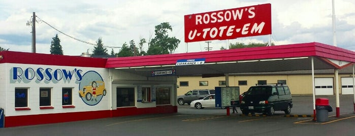 Rossow's U-Tote-Em is one of Neon/Signs Washington.