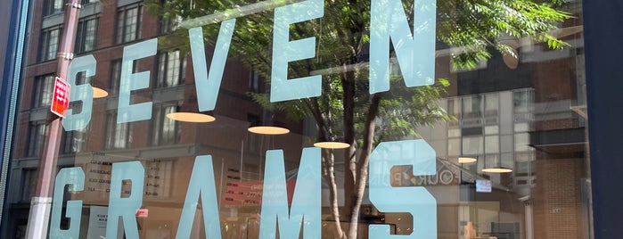 Seven Grams Caffe is one of New York favs & wishlist.