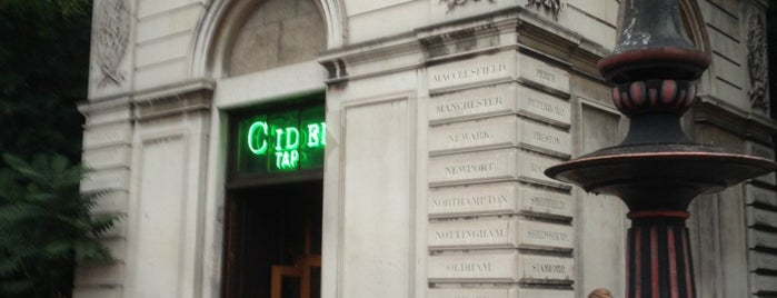 Euston Cider Tap is one of London to-do.
