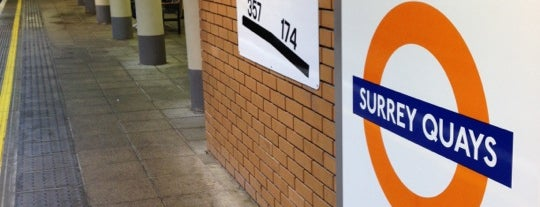 Surrey Quays London Overground Station is one of Tempat yang Disukai Barry.