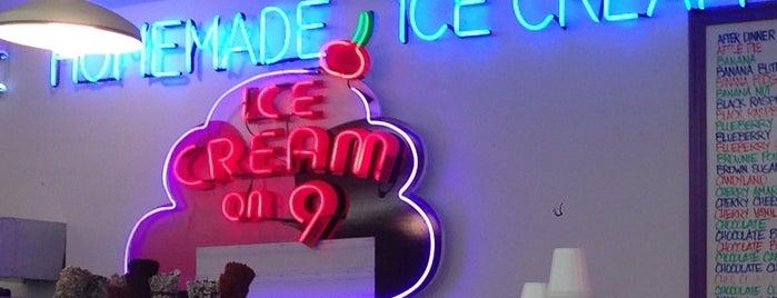 Ice Cream on 9 is one of Mike'nin Kaydettiği Mekanlar.