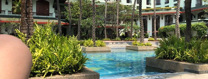 Pool at Chatrium Hotel is one of Yangon, Myanmar.