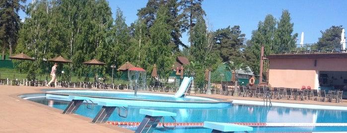 Открытый бассейн в Борвихе is one of Tempat yang Disukai Dmitriy.