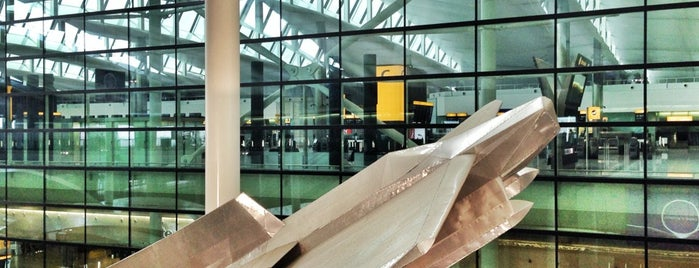 Terminal 2 - The Queen's Terminal is one of Richard Wilson sculptures.