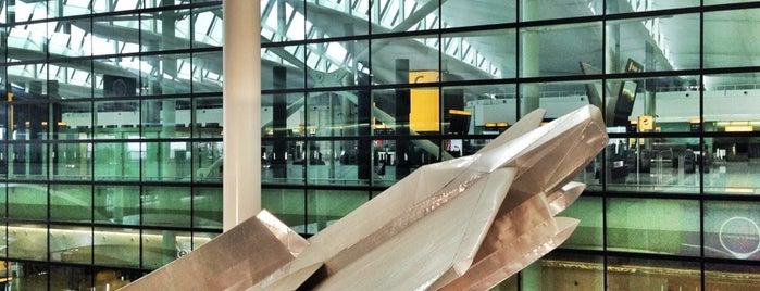 Terminal 2 - The Queen's Terminal is one of Richard Wilson sculptures.