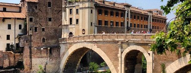 Ponte Fabricio is one of Rome / Roma.
