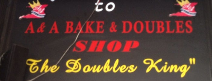 A & A Bake & Doubles is one of To do 2.
