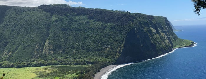 Waipi'o valley lookout is one of Hawaii.