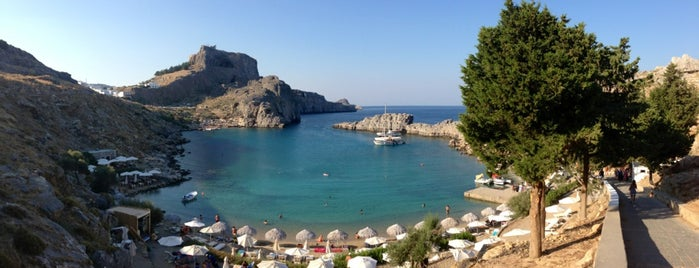 Lindos Beach is one of Cagla 님이 좋아한 장소.