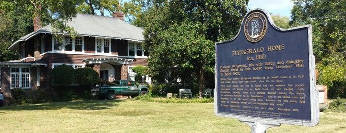 F. Scott & Zelda Fitzgerald Museum is one of North America.