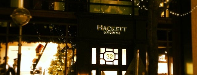 Hackett London is one of usual locations.