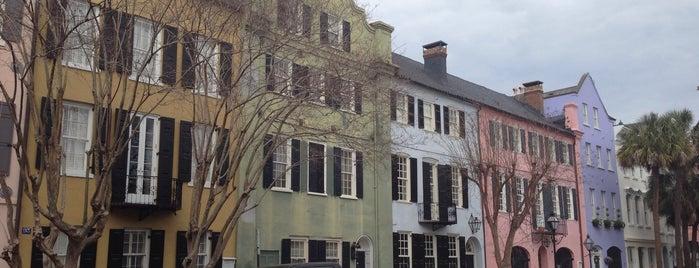 Rainbow Row is one of Charleston.