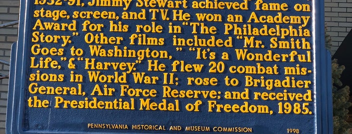 Jimmy Stewart Museum is one of PA and WV.
