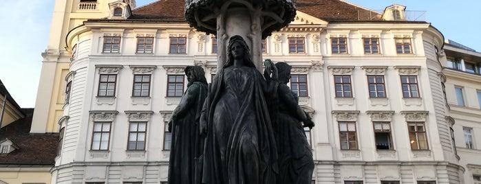 Austriabrunnen is one of Vienna.