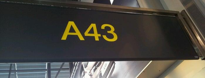 Gate A43 is one of สถานที่ที่ Cliff ถูกใจ.