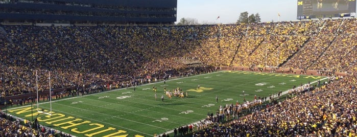 Michigan Stadium is one of Amarica Football.