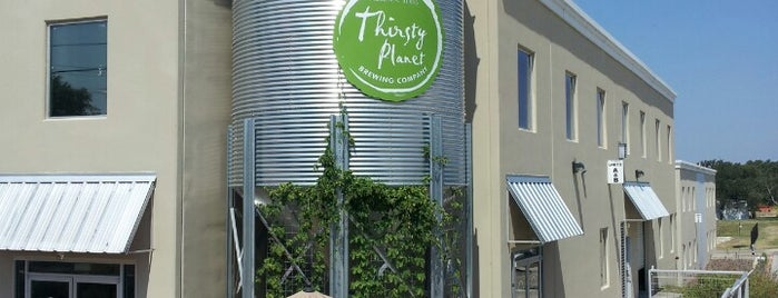 The Thirsty Planet Brewery is one of Austin, TX.