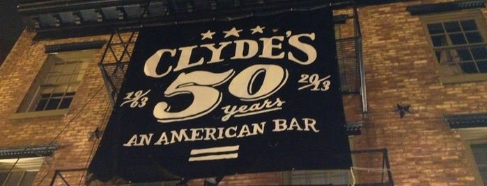 Clyde's of Georgetown is one of Washington DC.