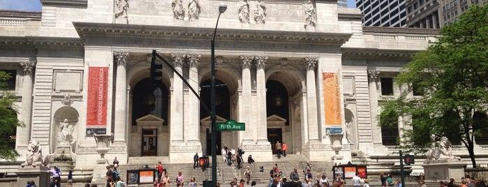Нью-Йоркская публичная библиотека is one of New York.