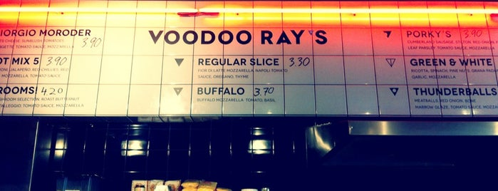 Voodoo Ray's is one of Dalston, London.