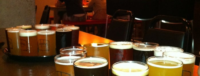 Alpha Brewing Company is one of Where to eat and drink downtown.
