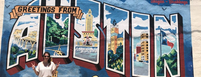 Greetings from Austin Mural is one of Austin.
