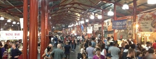 Queen Victoria Night Market is one of Melbournes laneways.