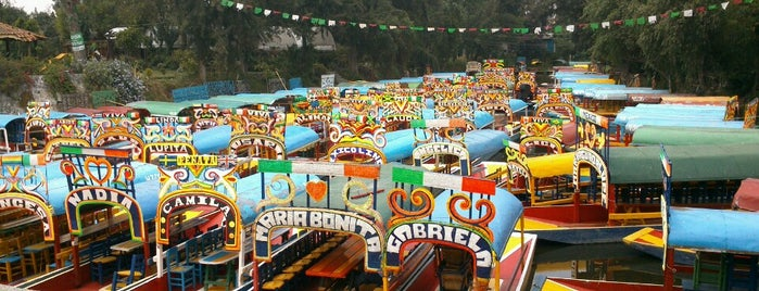 Xochimilco is one of Los + Del DF.