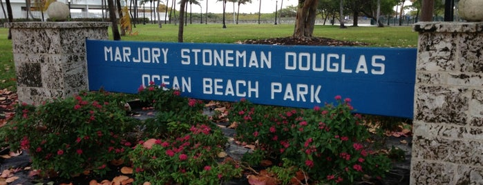 Marjory Stoneman Douglas Ocean Beach Park is one of Miami.