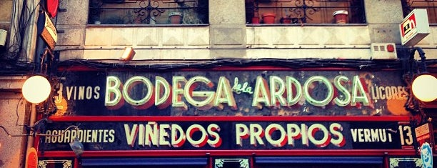 Bodega La Ardosa is one of Madrid to-do.