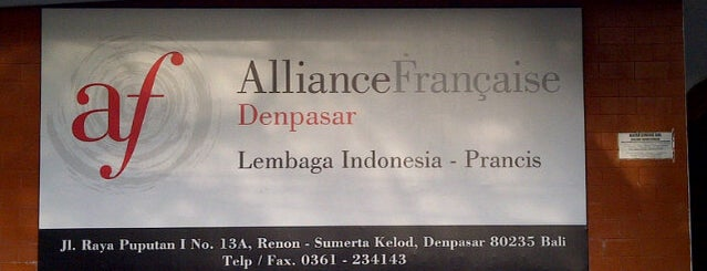 Alliance Francaise (AF) is one of Bali 2.0.