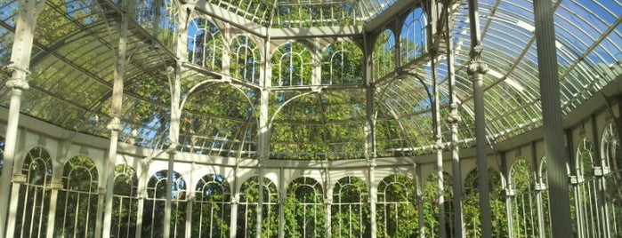 Palacio de Cristal del Retiro is one of Madrid, Spain.